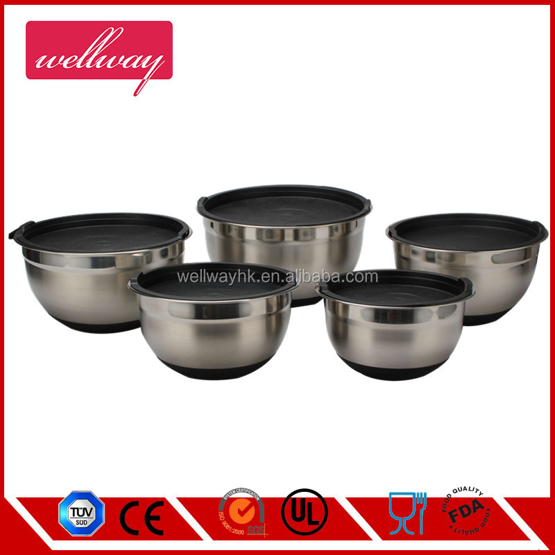 Stainless Steel 304 Baking Mixing Bowl Silicone Mat Non-skid 24cm