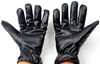 Wholesale factory custom 2015 hot selling cheap winter men's black leather glove for motorcycle