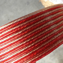 High quality speaker cable from Asia transparent PVC sheath and red/black PVC jacket with full copper conductor