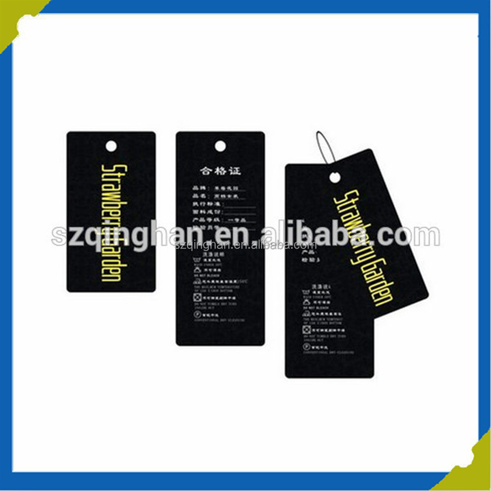 Customized Hot Sale Jeans Clothes Garment Hanging Paper Tag with Special Design