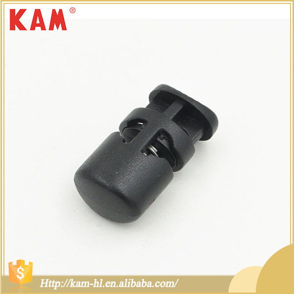 High quality black multifunctional spring plastic stopper cord adjuster