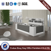Hot-sale Modern design L shape reception desk used salon reception desk (HX-5N253)