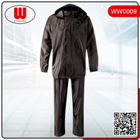 jacket and pants waterproof pvc rain suit
