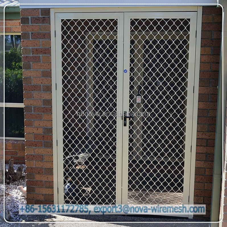 Decorative simple diamond security grilles high