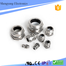 SY CE Approved IP68 Mtric Nickel Plated Brass Cable Glands With Cable Size Chart
