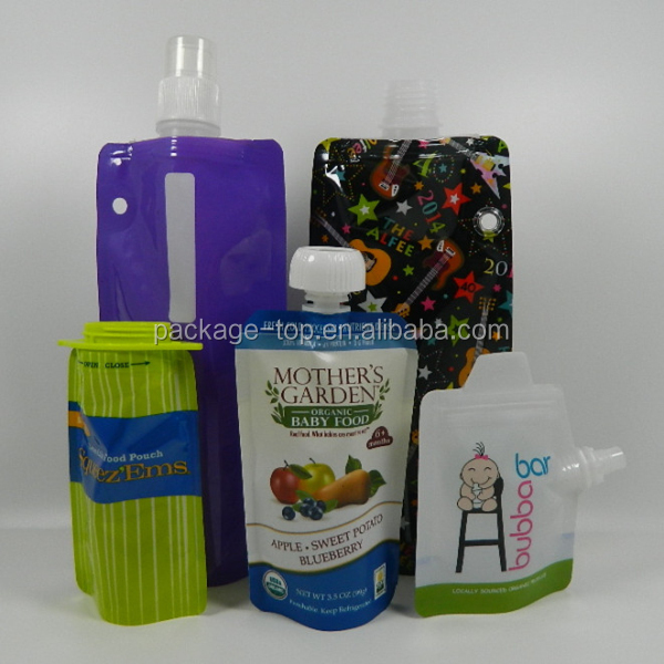 Stand up spout bag Nylon aluminum foil material for jelly packaging