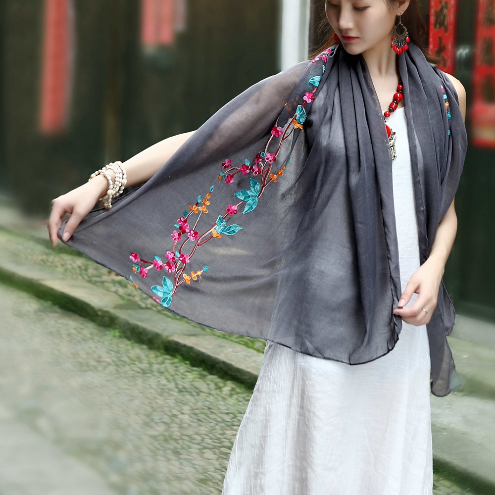 Women Embroidered fashionable scarf fashion scarf