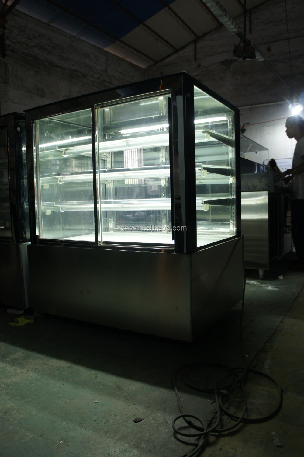 Cake Showcase Refrigerator with CE certification