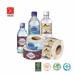 Customized Mineral Water Bottle Printing Label / Plastic Bottle Label Stickers Printing