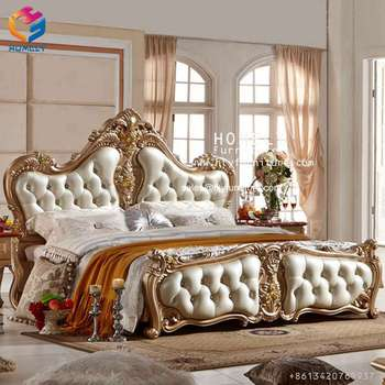 luxury wooden royal furniture king size bed bedroom furniture