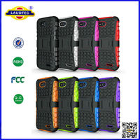For LG L90 Hyperion Explorer 2-pc Hybrid Protective stand shock proof Case Cover --Laudtec