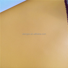 2014 new arrival yellow faux funiture leather