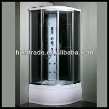 luxurious sector sliding door deep tray computerized steam 80x80 shower cabin