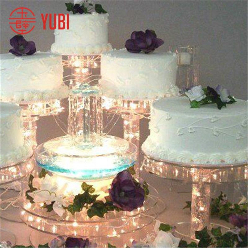5 tier lighted acrylic wedding cake stand