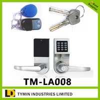 Main Products|Remote Control ID4100 Card Digital Electronic PIN Code Door Lock, Mechanical key for emergency