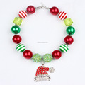 Christmas Chunky Bubblegum Toddler Jewelry Kids Necklace