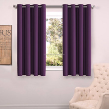 100% Blackout Window Curtain Panel With Tieback - Solid Thermal Insulated Draperies - 54 Inch Wide - 84 Inch Long
