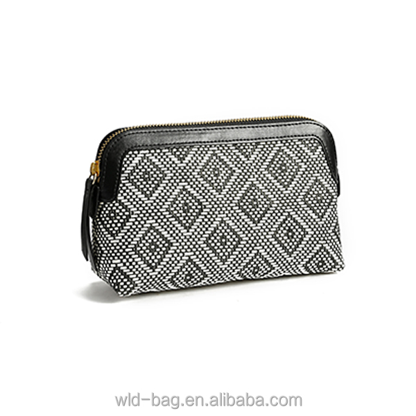 Wholesale Small Elegant Woven Cosmetic Bag