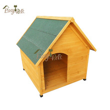 Puppy Canine Flat Roof Run Dog Kennel Wooden For Sale