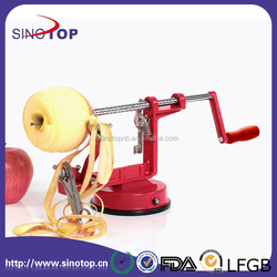 Durable Heavy Duty Cast Iron Apple Slicing Coring and Peeling Machine Razor Sharp Stainless Steel Blades