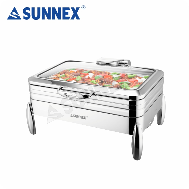 Sunnex Commercial Restaurant Equipment Stainless Steel Electric Serving dish Chafing Dish