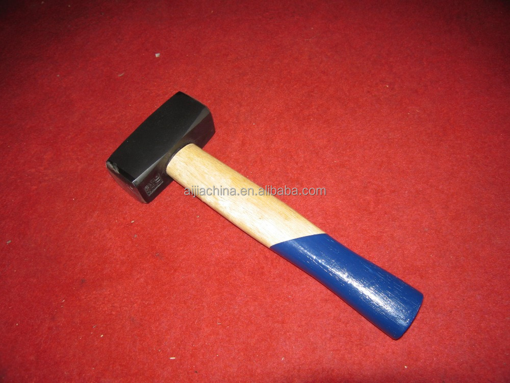 STONE HAMMER WITH WOOD HANDLE