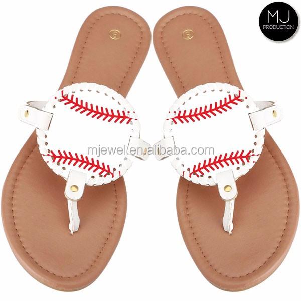 Monogrammed softball slide sandals