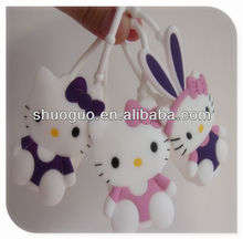 hello kitty pretty cute/lovely silicone hand sanitizer holder as best promotional gifts