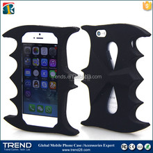 black mark heavy silicone cover case for iphone 5 5s