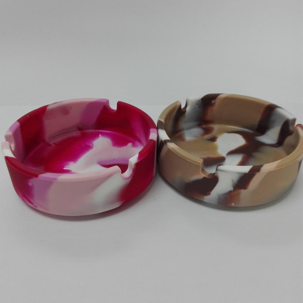 New Style Silicone Ashtray Camouflage Color Small Size Made in China