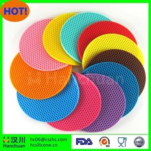2 X Silicone Round Heat Resistant Mat Multi-Purpose use Cup Coaster placemat Pad