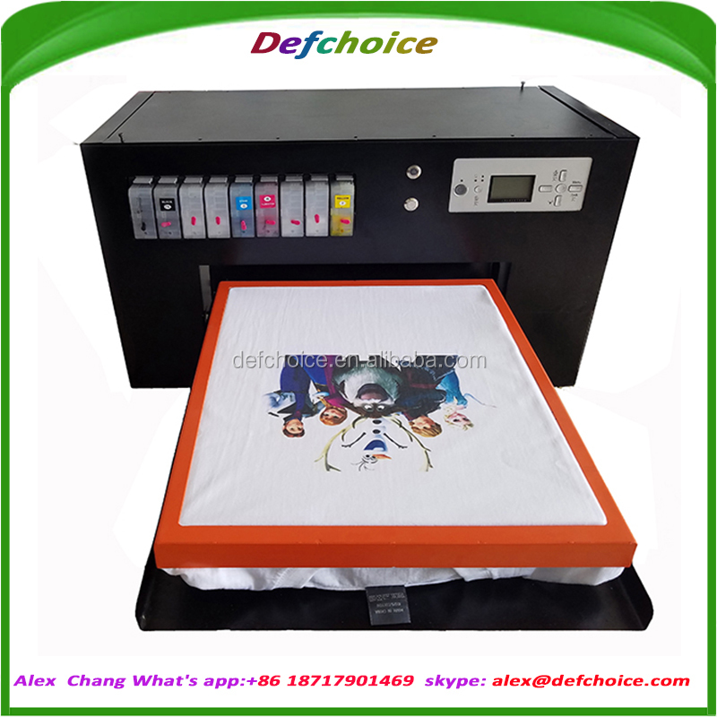 a2+ size 8 colors multi-color textile printing machine for t shirt
