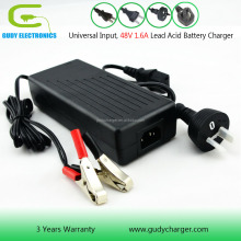 48V AGM GEL SLA battery charger 1.6A electric bike scooter wheelwhair