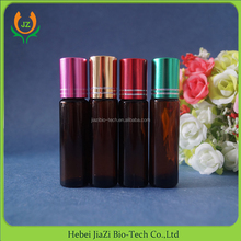 new product 10ml cosmetic packaging empty amber perfume roll on bottles