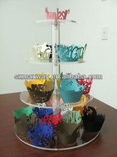 cake display containers/cupcake stand/acrylic carriage cake stand