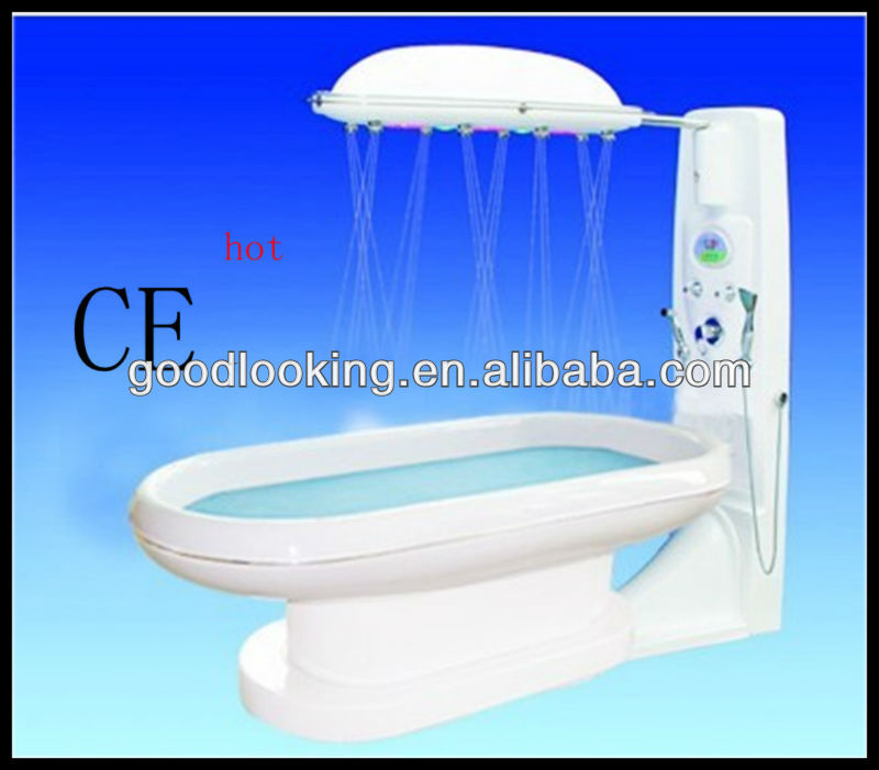 bath water massage shower with LED color lamp