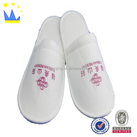 customized printing hotel slipper slipper with sponge heels