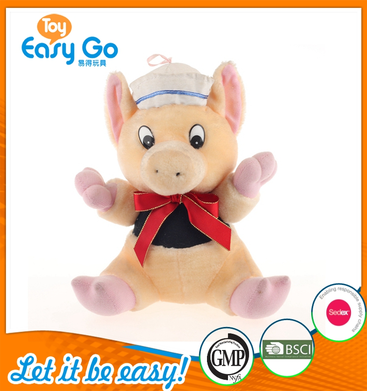 high quality peppa piggy with hat and tie