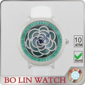 AAA Zircon diamond ladies wrist watch , high quality stainless steel watch