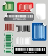 bar code sticker printing vector