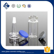 Wholesale Cosmetic Beauty Glass Tube Packaging,Empty Tubular Clear Glass Vials with PVC Dropper for Skincare
