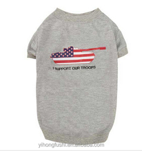American flag pattern dog t-shirts/summer dog clothes/dog products