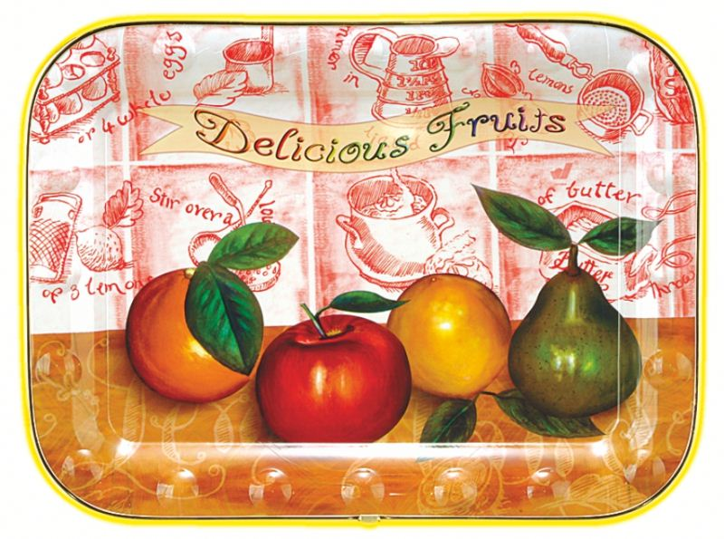 Square plastic fruit plastic large plate