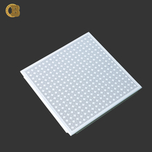 Decorative fireproof square aluminum ceiling panel clip in aluminum ceiling tiles