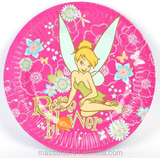 rare flower picture paper plate