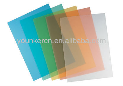 PVC color transparency sheet/clear pvc book cover film