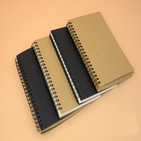 High quality custom logo printed wholesale kraft paper material cover spiral notebook