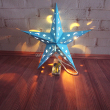 Paper motif star light warm white LED hanging christmas star light