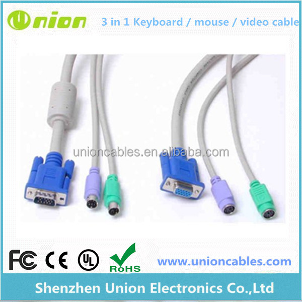 PS2 to VGA Keyboard / mouse / video extension cable