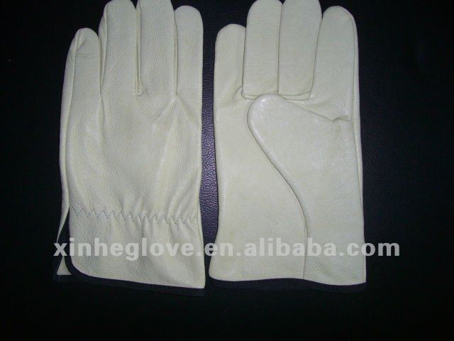 white cow grain leather safety driver <strong>gloves</strong>